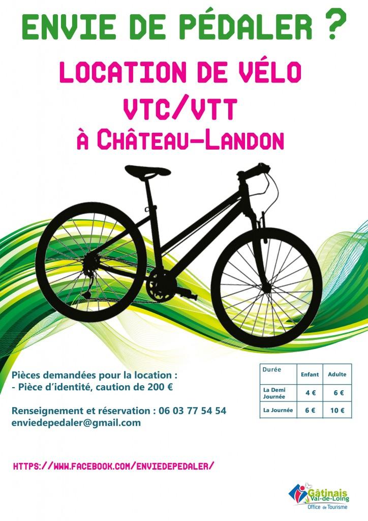 affiche location vélo