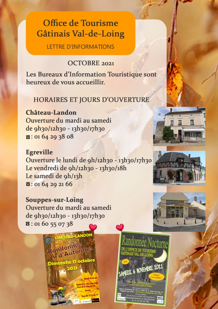 Bulletins d'information Octobre 2021