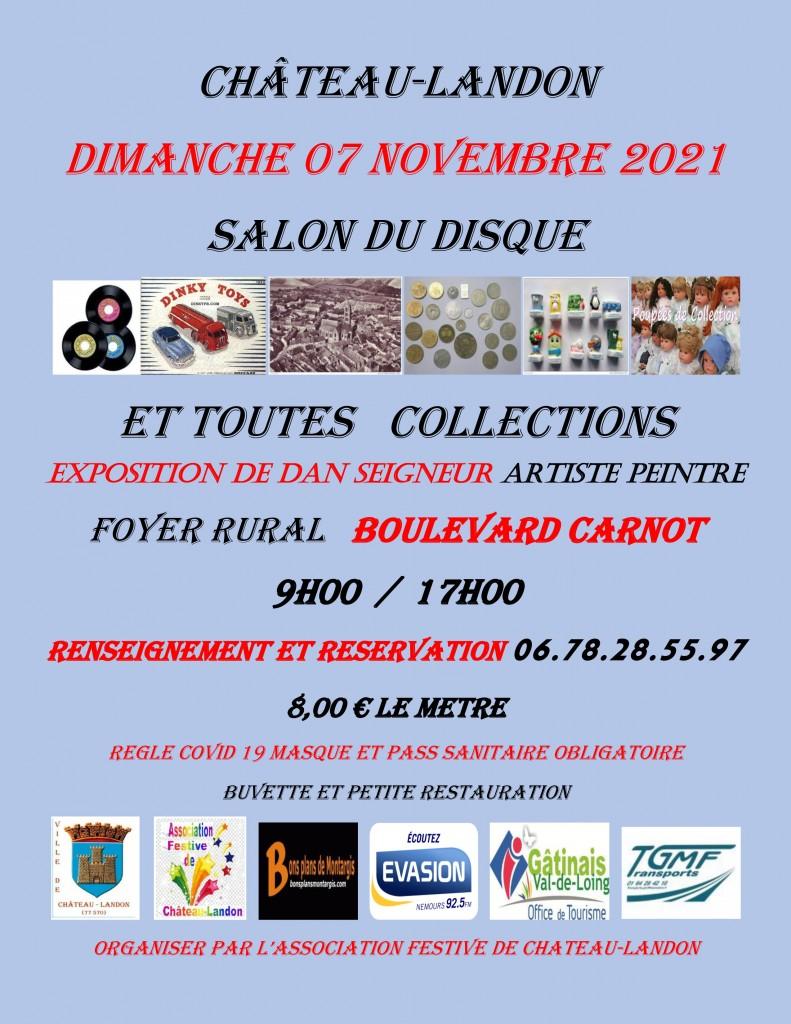 affiche salon du disque 2021 - Château-Landon